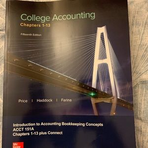 College accounting textbook